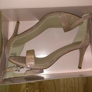 Rose gold Charlotte Russe Rory Heels